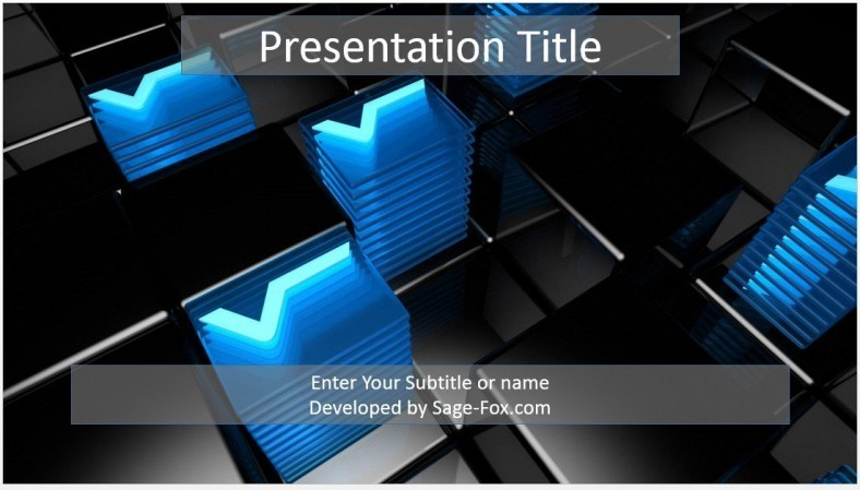 Free D Abstract Powerpoint Template   Sagefox Powerpoint