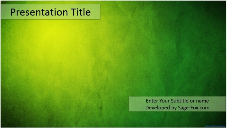 Free green powerpoint template 4395 sagefox powerpoint templates by james sager toneelgroepblik Image collections