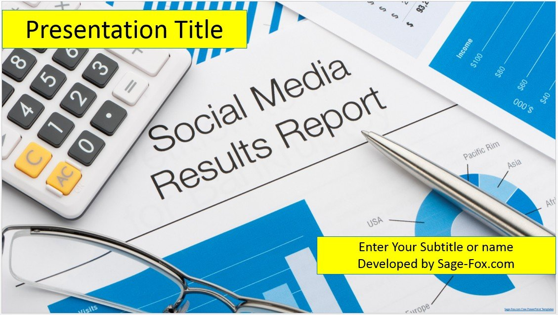 Free Social Media Analysis PowerPoint Template SageFox Free - Free social media powerpoint templates