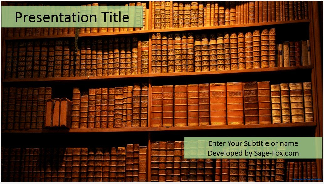 Free old books powerpoint template 4443 sagefox powerpoint by james sager toneelgroepblik