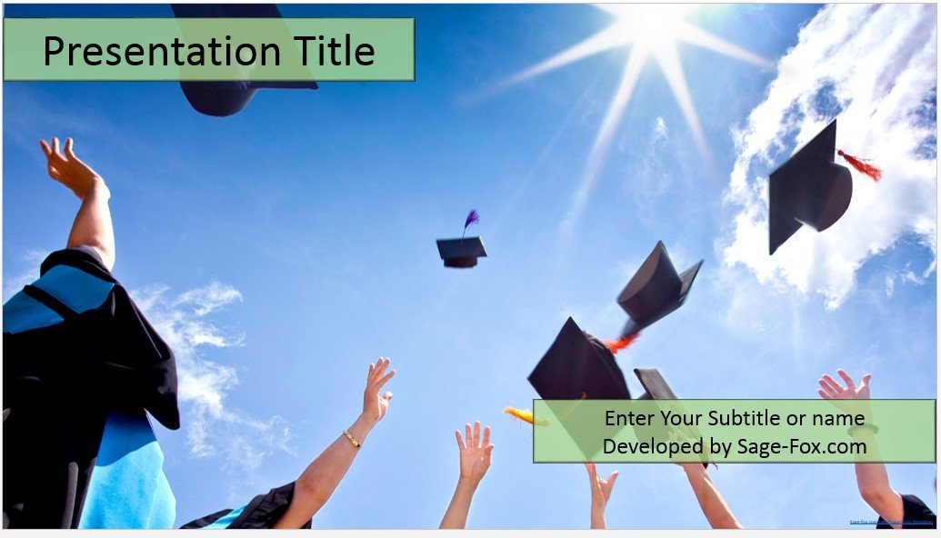 Free graduation powerpoint templates selol ink free graduation powerpoint templates toneelgroepblik Choice Image