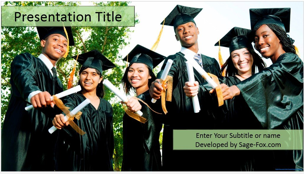 Free graduation powerpoint template 4453 sagefox powerpoint by james sager toneelgroepblik Choice Image