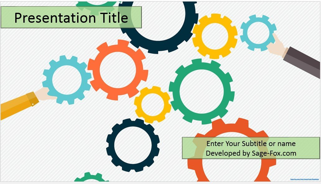 Free gears powerpoint template 4473 sagefox powerpoint templates by james sager toneelgroepblik