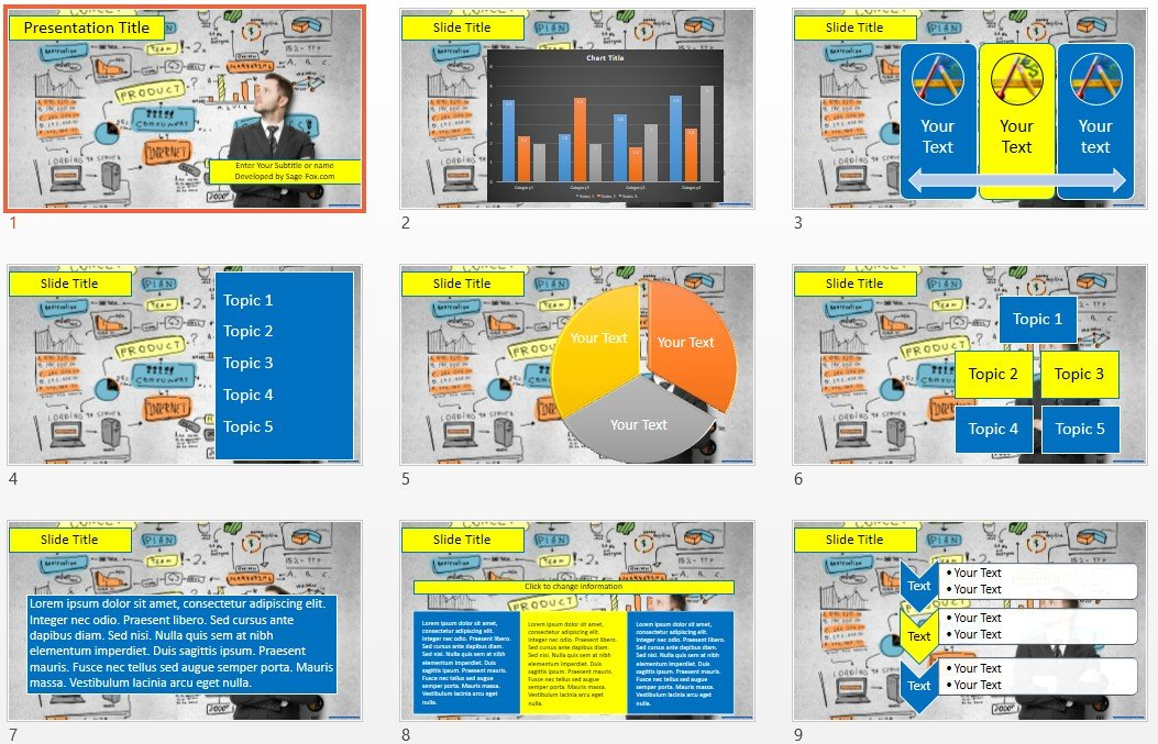 Free business powerpoint 4514 sagefox free powerpoint templates by james sager friedricerecipe Gallery