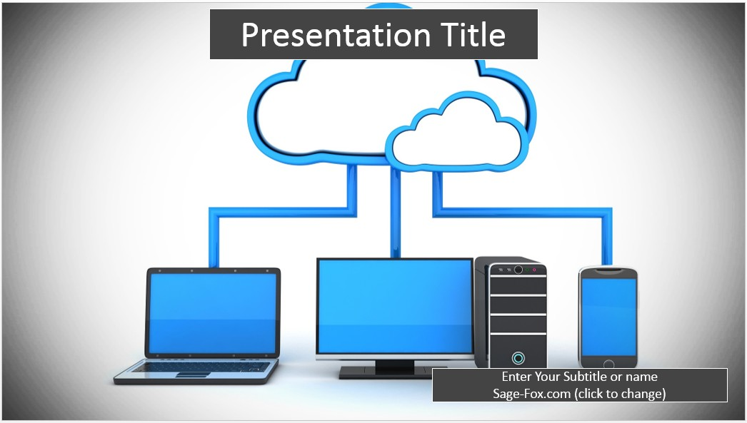 Free In The Cloud Powerpoint Template 6338 Sagefox Powerpoint