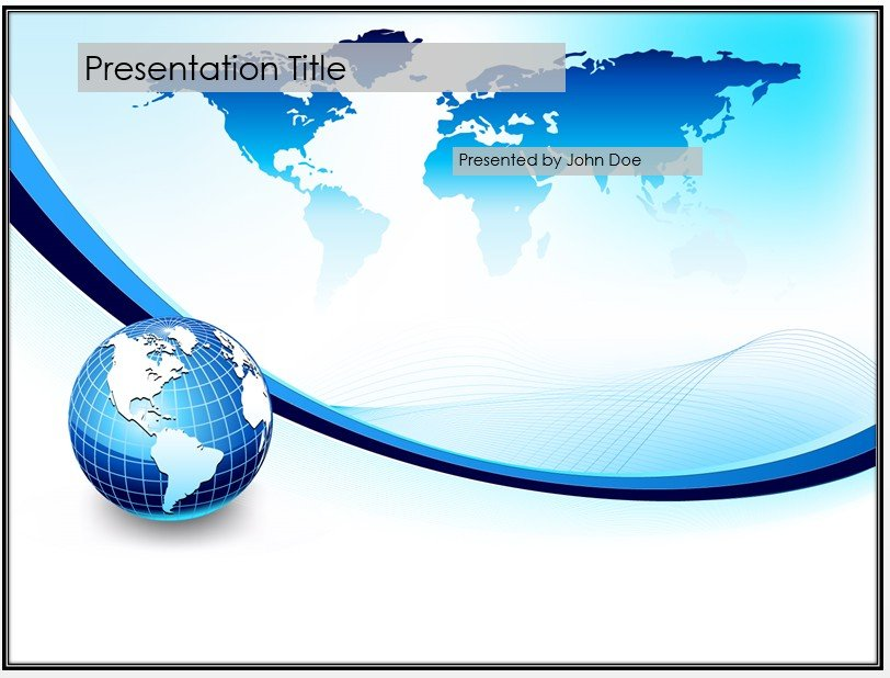 Free blue globe powerpoint template 3853 sagefox powerpoint by james sager toneelgroepblik Choice Image