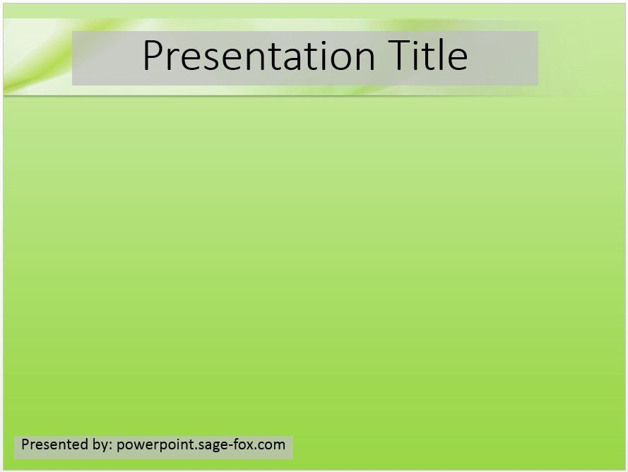 Free Simple Green Powerpoint Template 3873 Sagefox Free