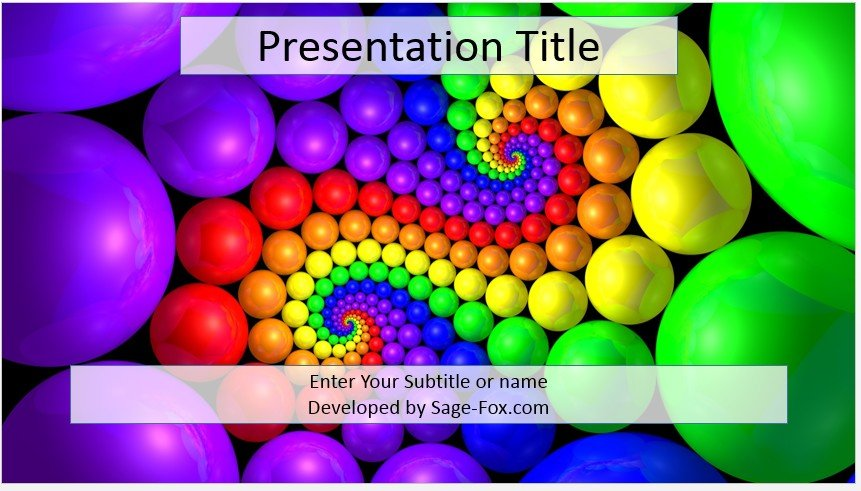 Free abstract colorful powerpoint template #3803 | SageFox ...