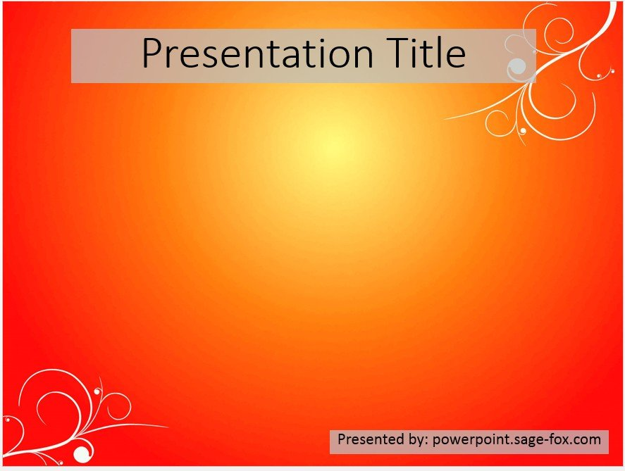 Free simple orange powerpoint template 3903 sagefox powerpoint by james sager toneelgroepblik Choice Image