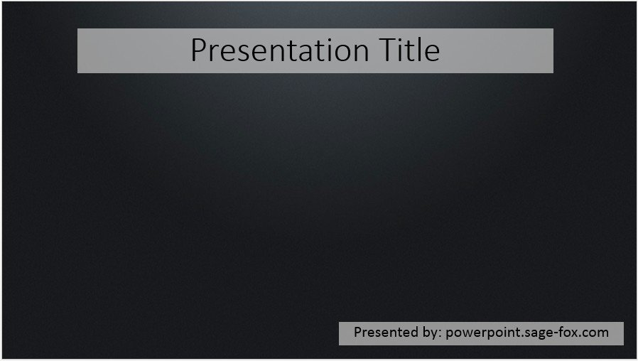 Free simple black powerpoint template 3908 sagefox powerpoint by james sager toneelgroepblik Images