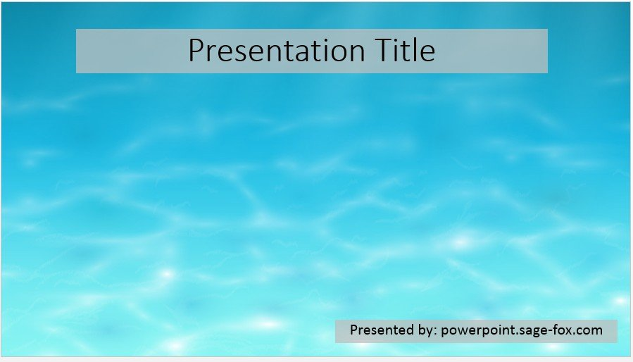 Free Simple Water Powerpoint Template 3943 Sagefox Free