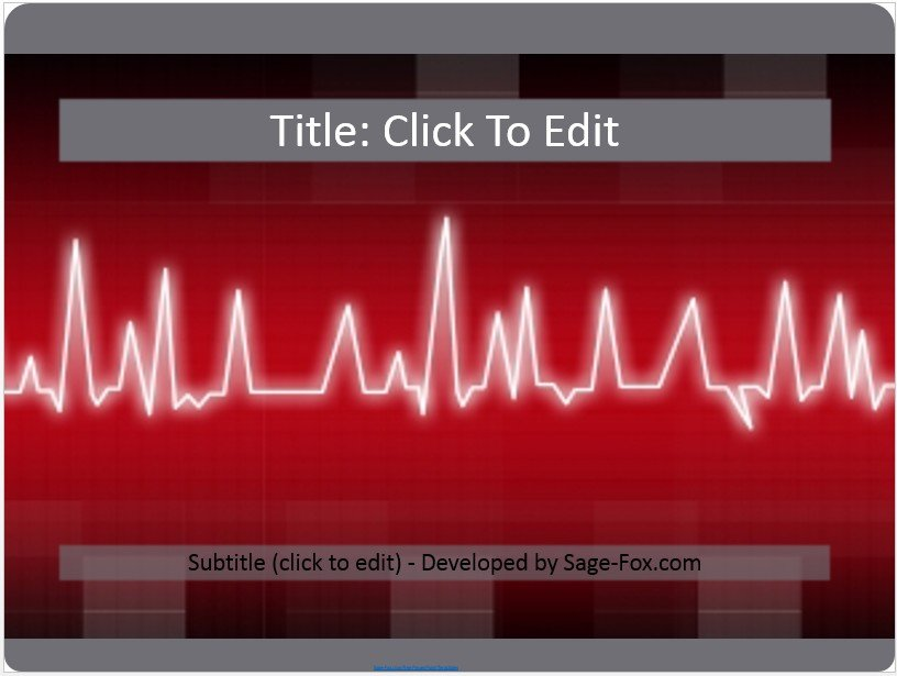 Free heart pulse powerpoint 3958 sagefox powerpoint templates by james sager toneelgroepblik Image collections