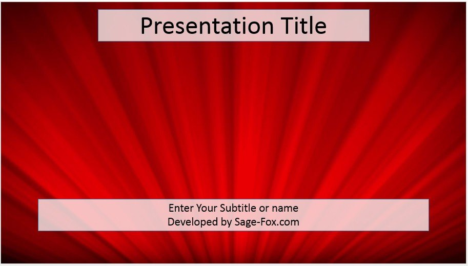 free red abstract powerpoint template 4068 sagefox