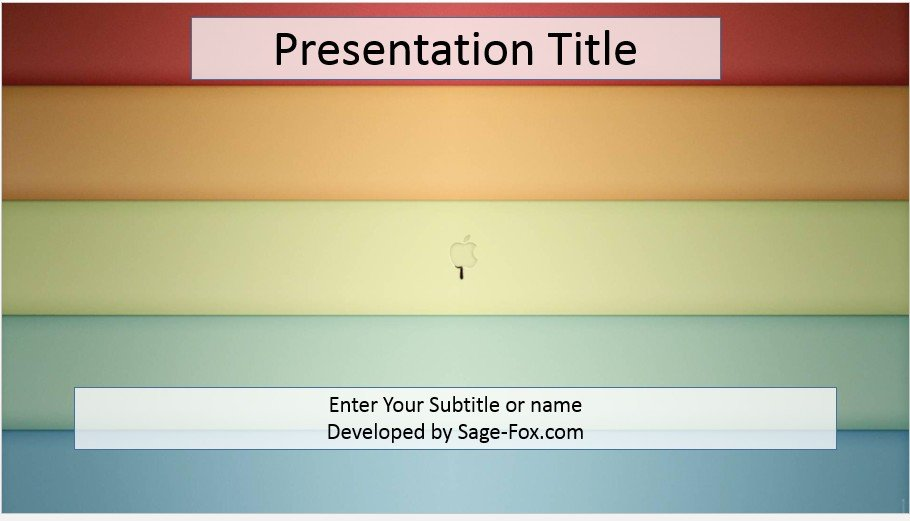 Free striped apple powerpoint template 4073 sagefox powerpoint by james sager toneelgroepblik Image collections