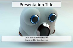 Free robot powerpoint template 7657 sagefox powerpoint templates robot head powerpoint template toneelgroepblik Images