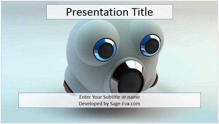 Free robot head powerpoint template 4099 sagefox powerpoint by james sager toneelgroepblik Images