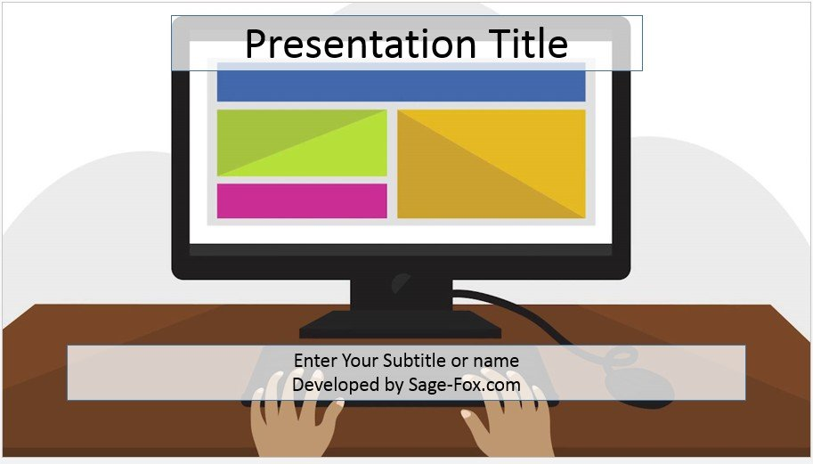 Free computer powerpoint template 4104 sagefox powerpoint templates by james sager toneelgroepblik