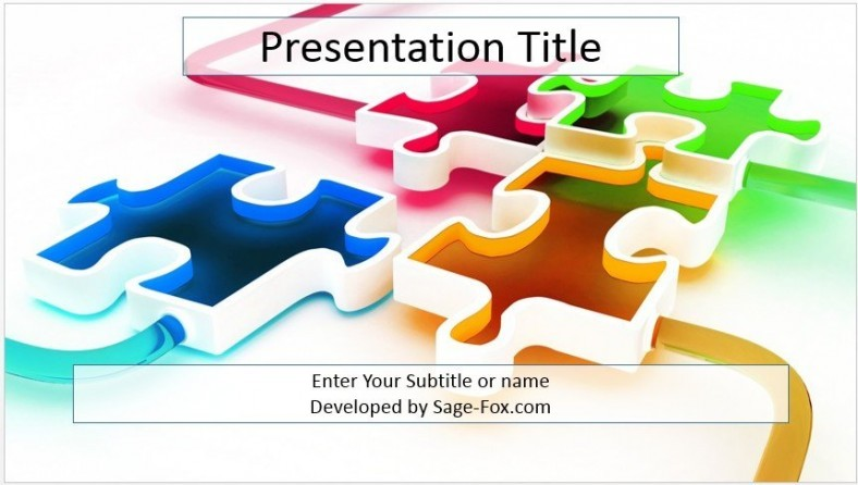 Free D Puzzle Powerpoint Template   Sagefox Powerpoint Templates