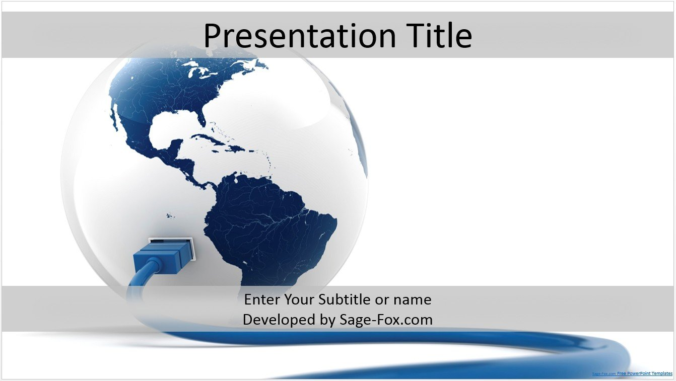 Free globe powerpoint template 4188 sagefox powerpoint templates by james sager toneelgroepblik Choice Image
