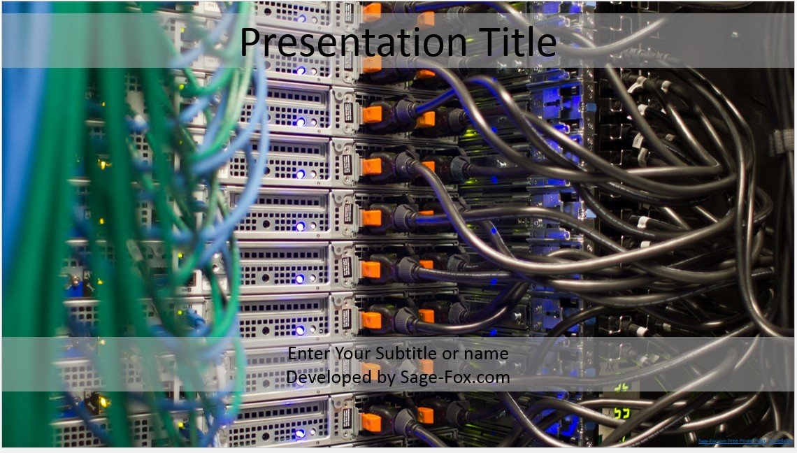 Free servers powerpoint template 4296 sagefox powerpoint templates by james sager toneelgroepblik Images