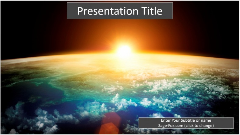 Free earth at sunrise powerpoint template 6428 sagefox powerpoint click powerpoint name below then choose to save earth at sunrise powerpoint template free toneelgroepblik Image collections