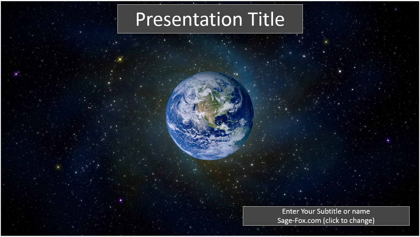 Free earth from space powerpoint template 6473 sagefox powerpoint by james sager toneelgroepblik Images