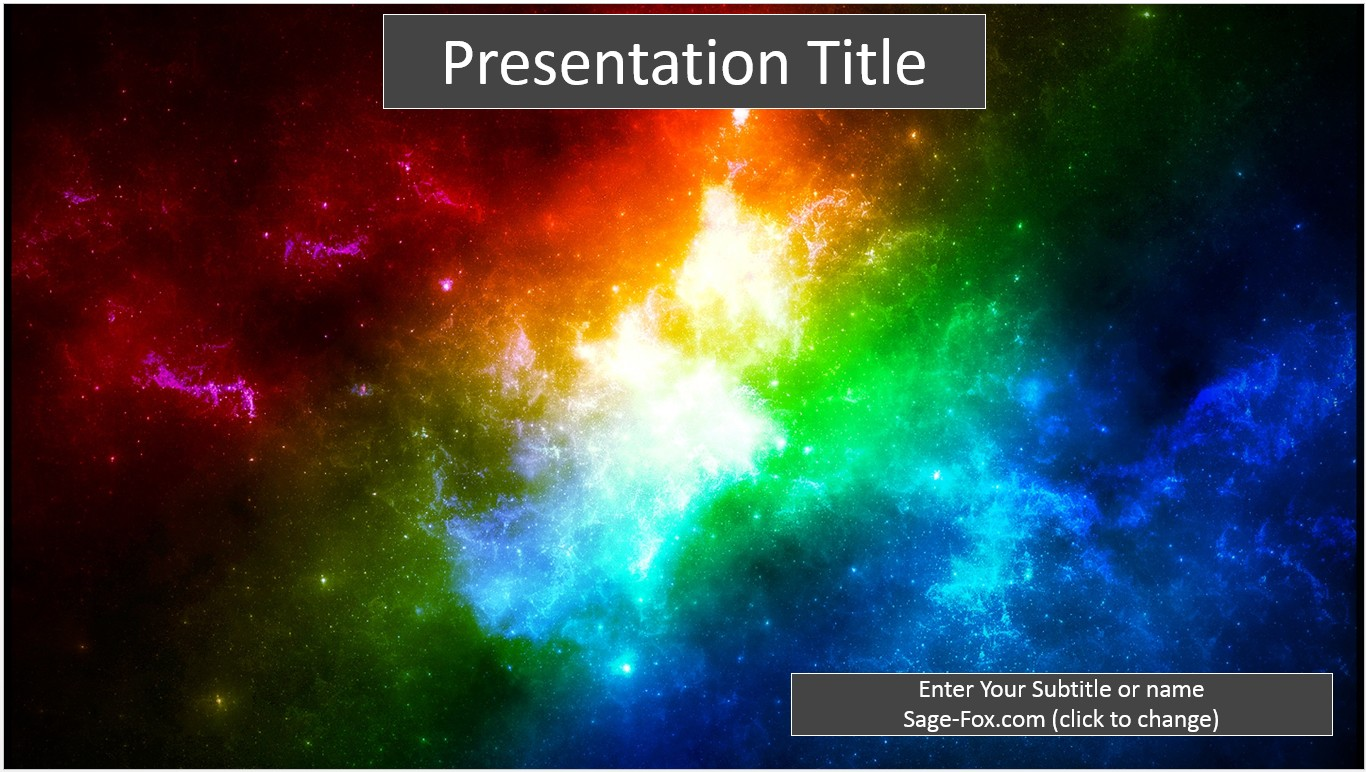 Free colorful space powerpoint template 6488 sagefox powerpoint by james sager toneelgroepblik Image collections