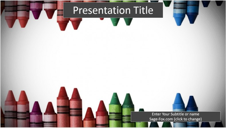 Free crayons powerpoint template 6358 sagefox powerpoint templates crayons powerpoint template toneelgroepblik Image collections