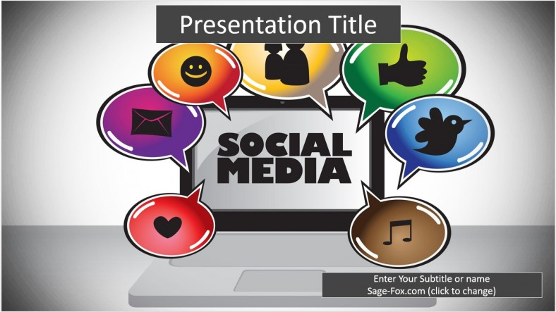 Social Media Powerpoint Templates Images Template Design Free Download - Free social media powerpoint templates