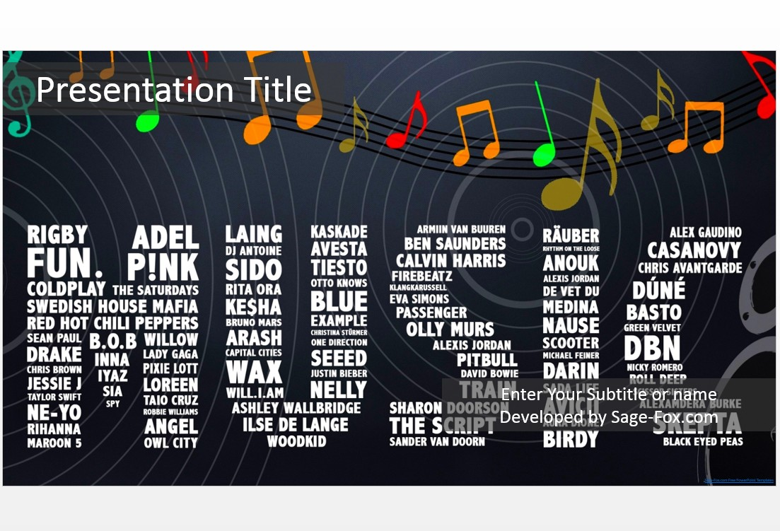 Free music powerpoint template 4921 sagefox powerpoint templates music powerpoint template toneelgroepblik Images