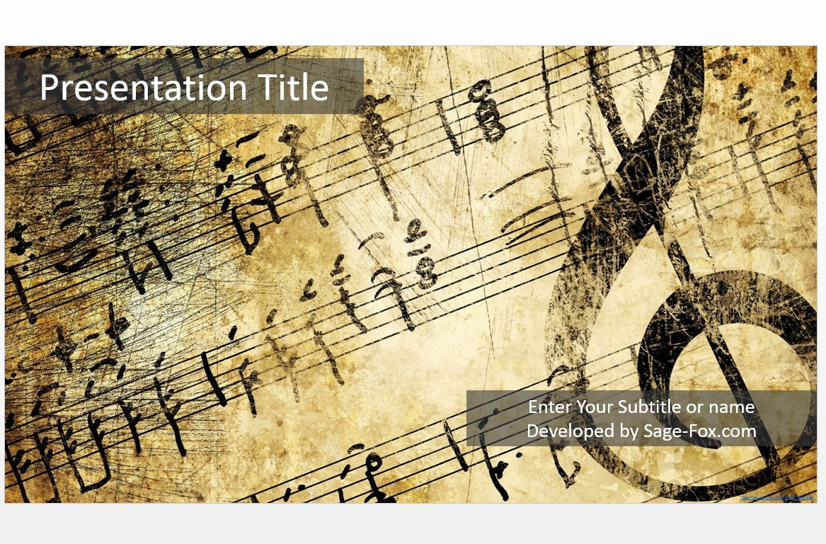 Free music powerpoint 4931 sagefox powerpoint templates by james sager toneelgroepblik Choice Image