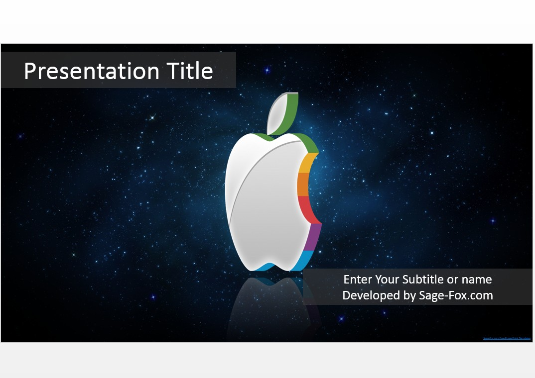 Free 3d apple powerpoint 4785 sagefox powerpoint templates by james sager toneelgroepblik Image collections
