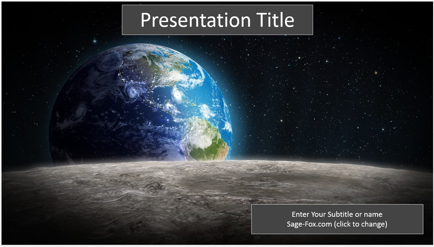 free earth space powerpoint 6589 sagefox powerpoint templates. Black Bedroom Furniture Sets. Home Design Ideas