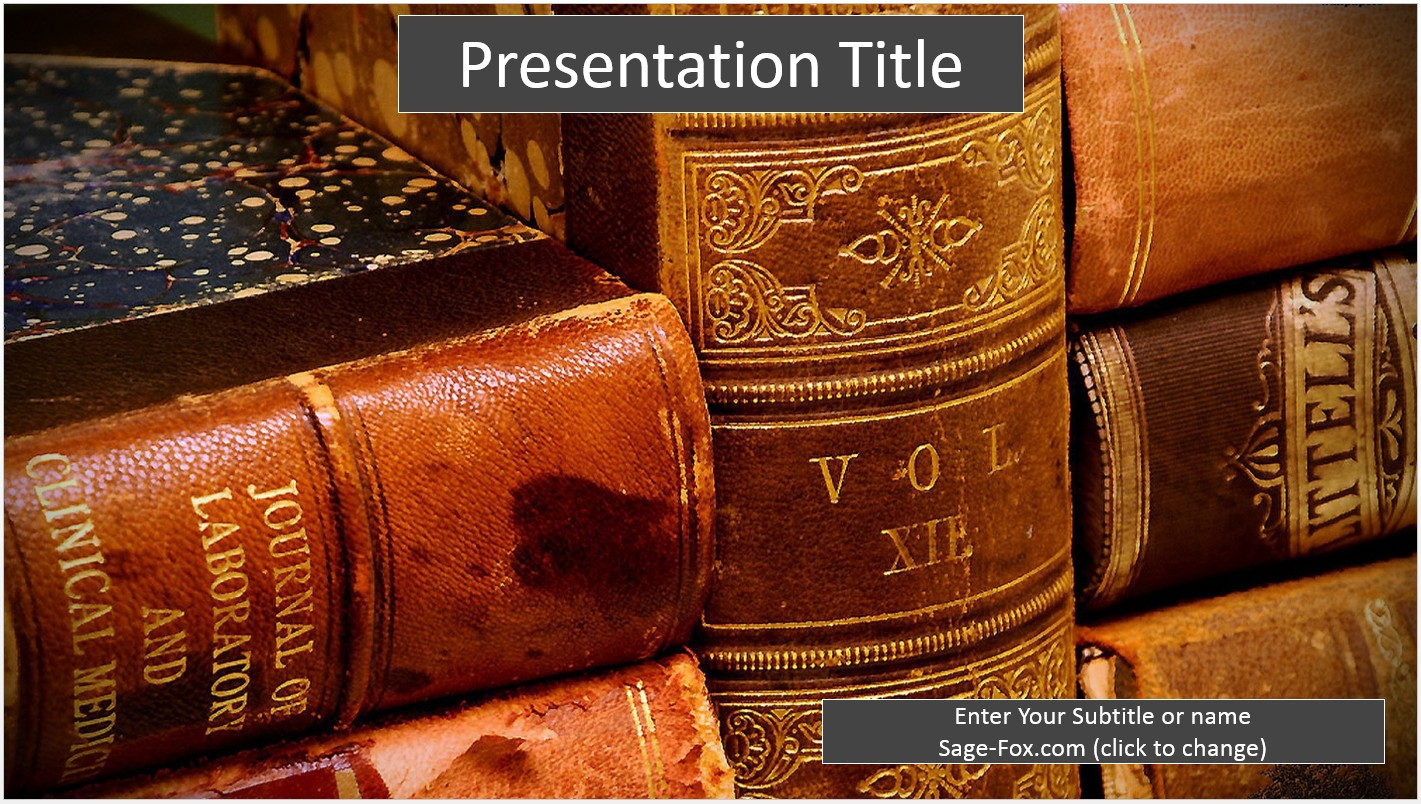 Free old books powerpoint 6634 sagefox powerpoint templates by james sager toneelgroepblik Choice Image
