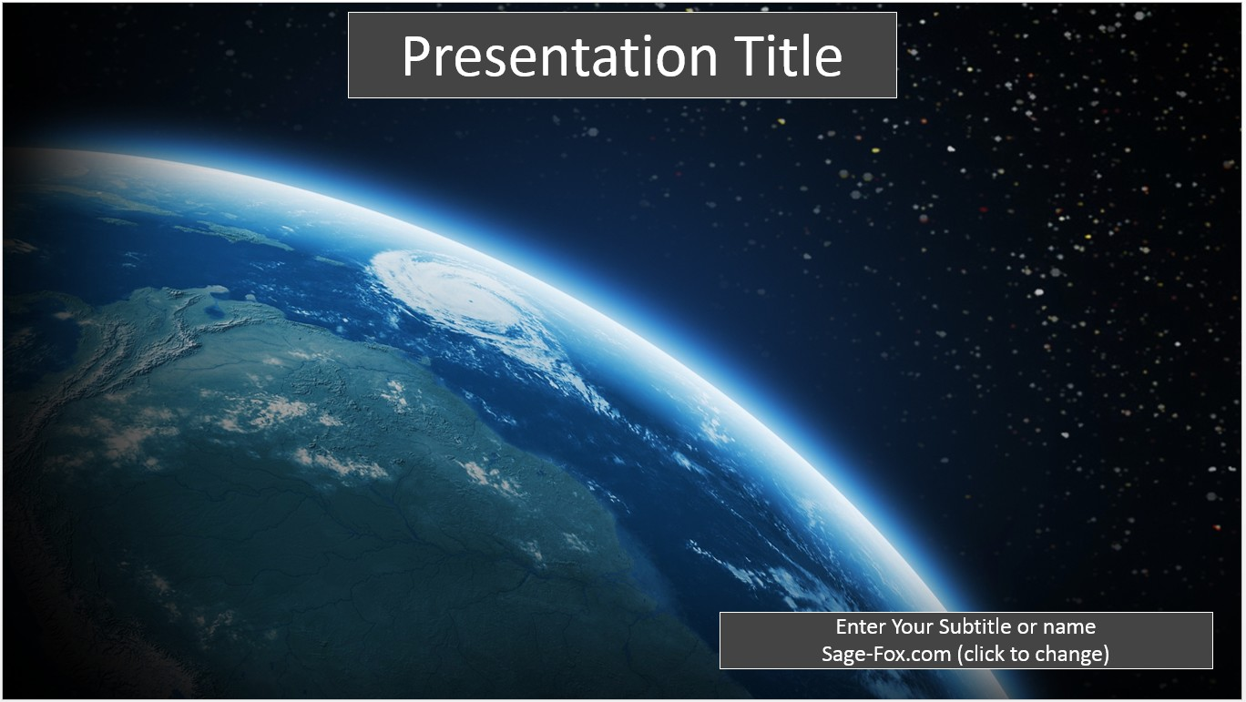 Free earth from space powerpoint 6549 sagefox powerpoint templates by james sager toneelgroepblik Gallery