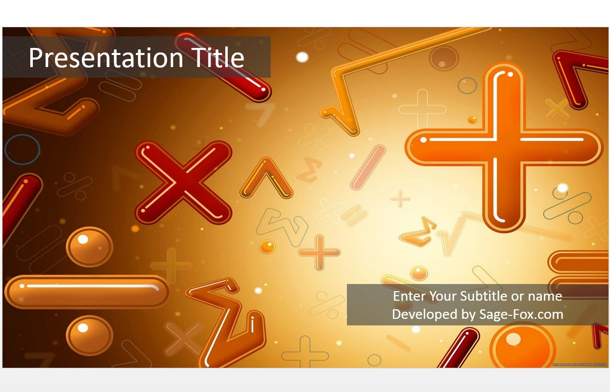 Free math powerpoint template 5057 sagefox powerpoint templates by james sager toneelgroepblik Image collections