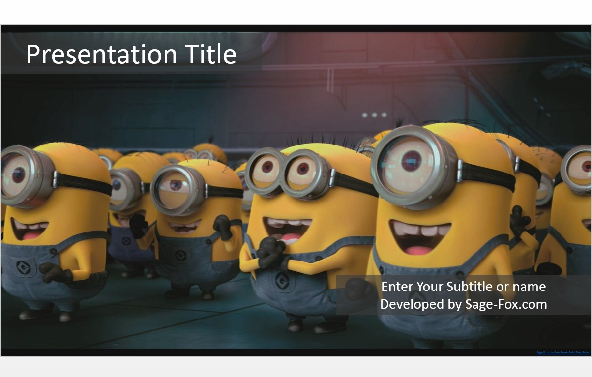 Free minions powerpoint template 5102 sagefox powerpoint templates by james sager toneelgroepblik Image collections