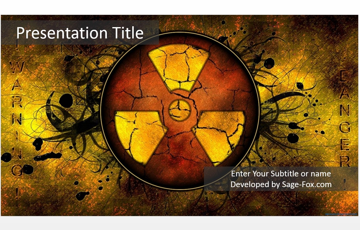 Free nuclear warning powerpoint template 5172 sagefox please share this free powerpoint template toneelgroepblik Choice Image