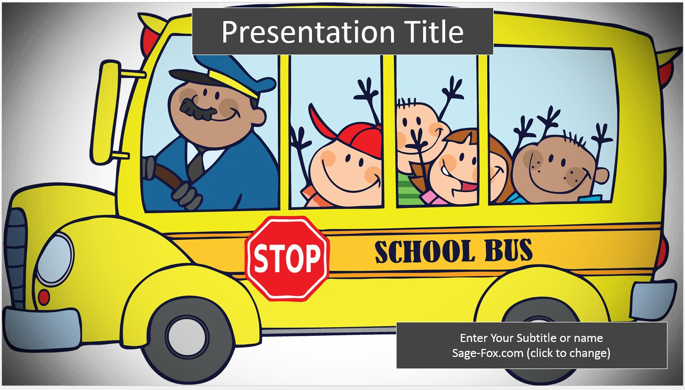 Free school bus powerpoint template 6258 sagefox powerpoint by james sager toneelgroepblik Choice Image