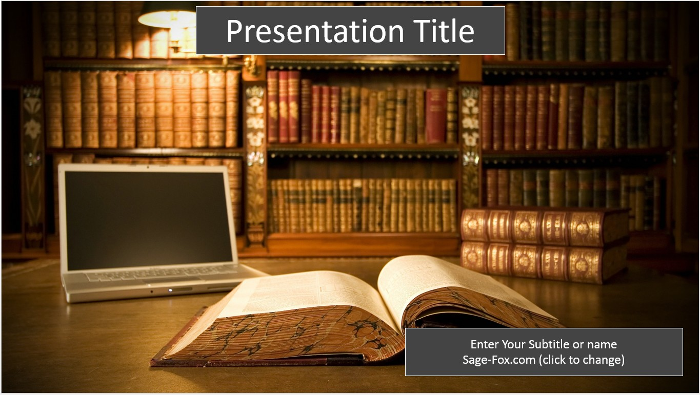 Free library powerpoint template 6268 sagefox powerpoint templates by james sager toneelgroepblik Choice Image