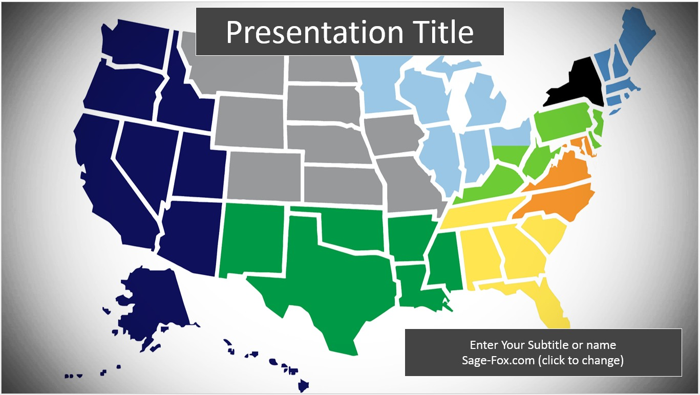 Free united states map powerpoint template 6323 sagefox by james sager toneelgroepblik Gallery