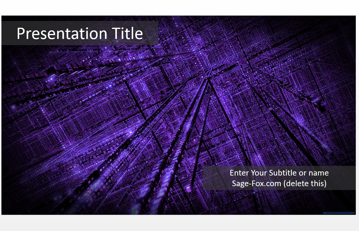 Free technology purple powerpoint template 5529 sagefox please share this free powerpoint template toneelgroepblik