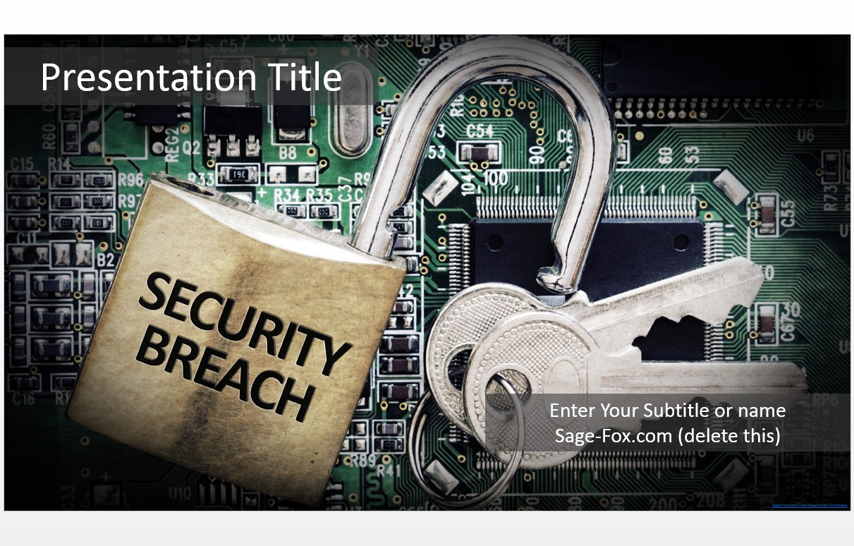 Free security breach powerpoint template 5604 sagefox powerpoint by james sager toneelgroepblik Gallery