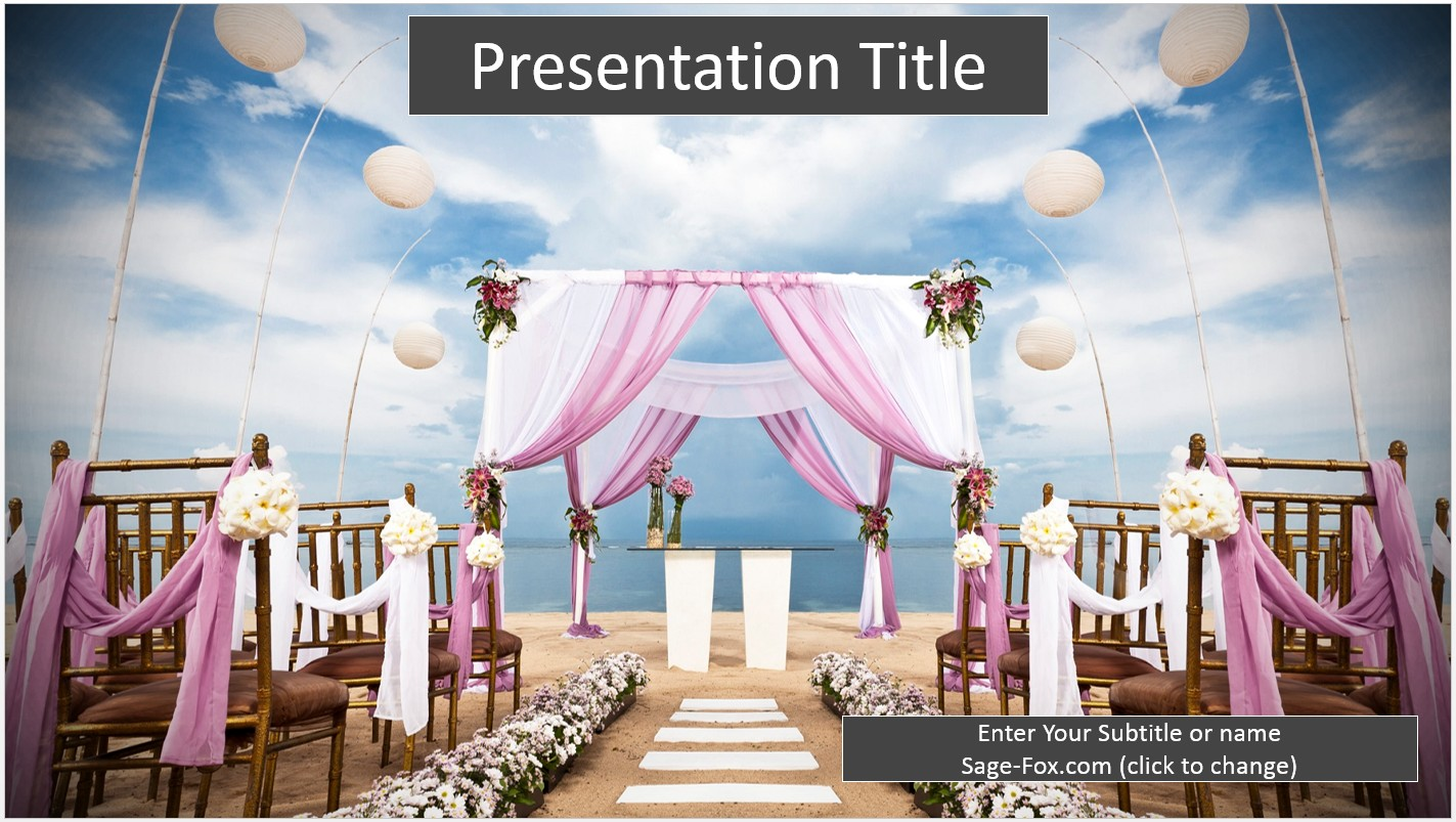Free beach wedding powerpoint 6704 sagefox powerpoint templates by james sager toneelgroepblik Image collections