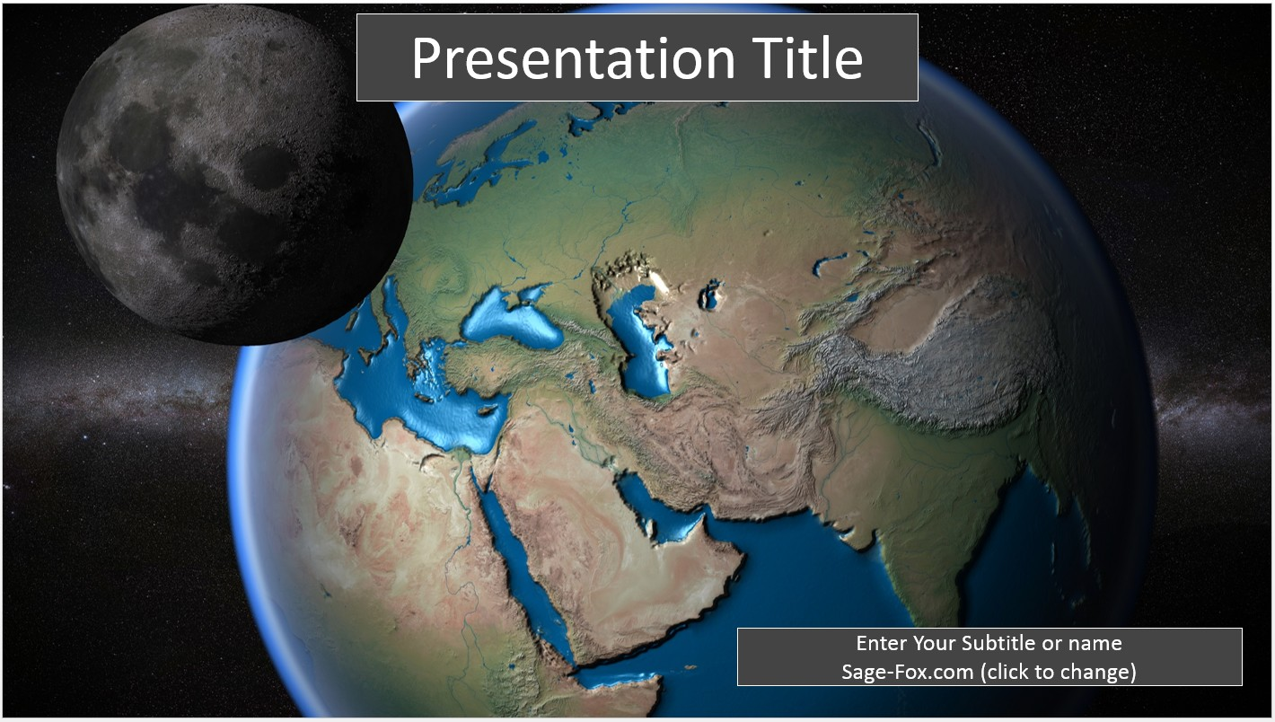 Free earth and moon powerpoint template 6714 sagefox powerpoint by james sager toneelgroepblik Gallery