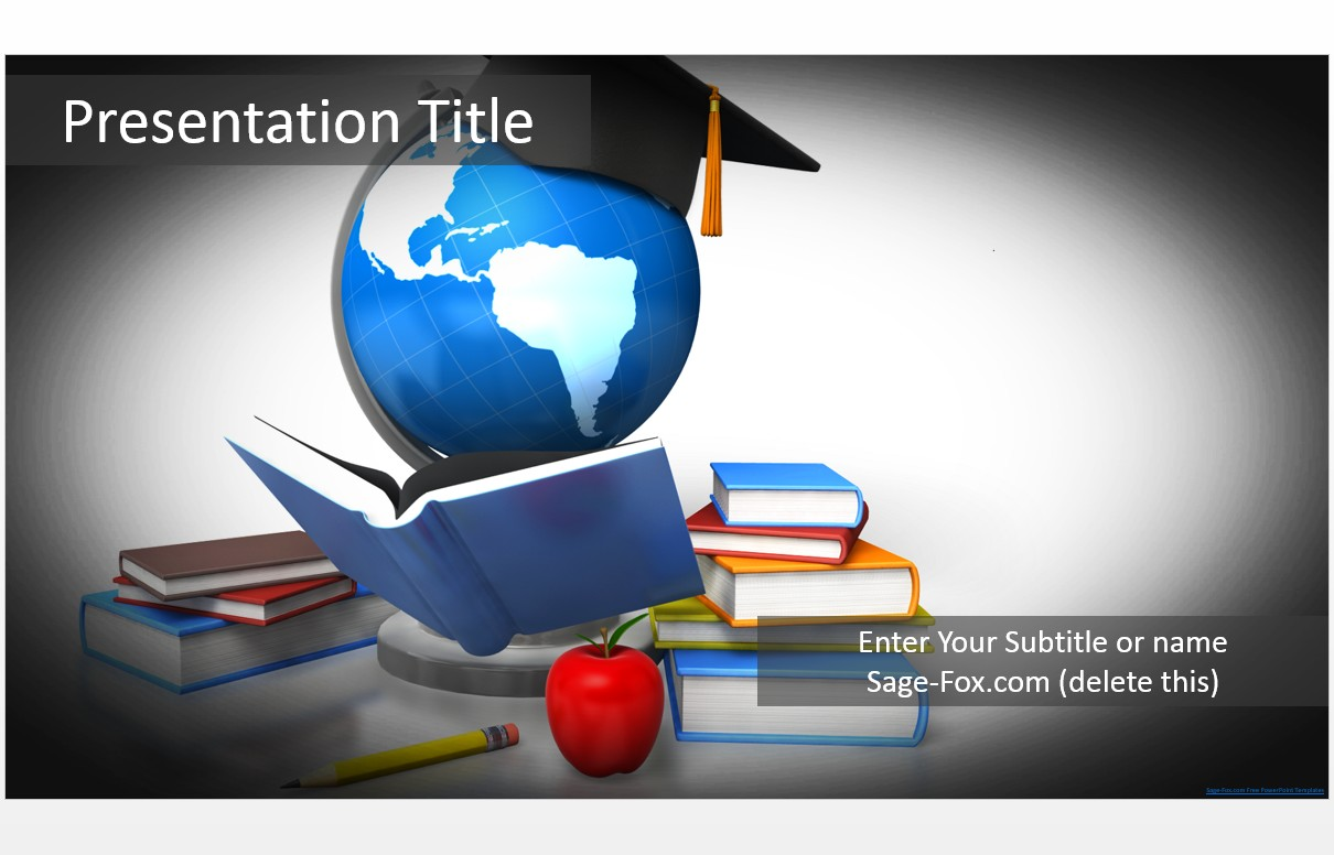 Free education powerpoint template 5564 sagefox powerpoint templates by james sager toneelgroepblik Image collections