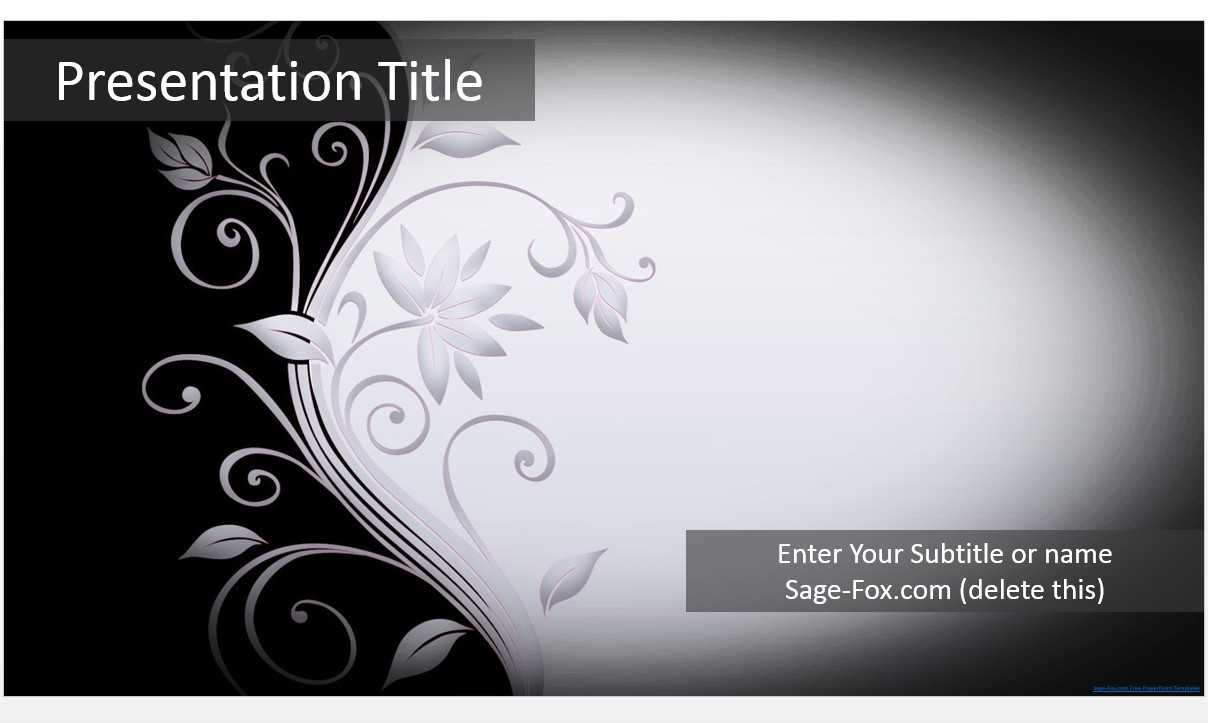 Free elegant black and white powerpoint template 5410 sagefox by james sager toneelgroepblik