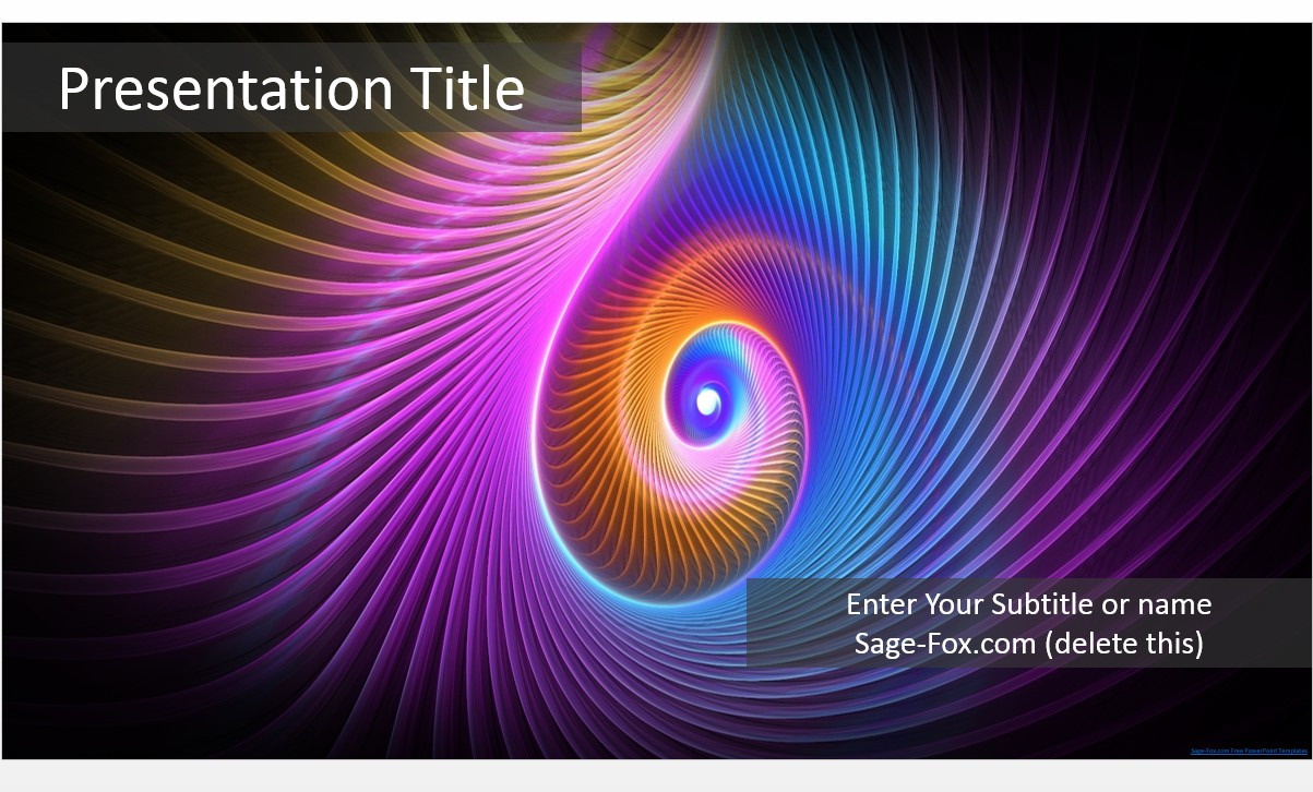 Free Abstract PowerPoint Template #5491 | SageFox PowerPoint Templates.