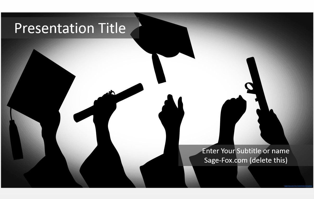 Free graduation silhouette powerpoint template 5749 sagefox by james sager toneelgroepblik Choice Image