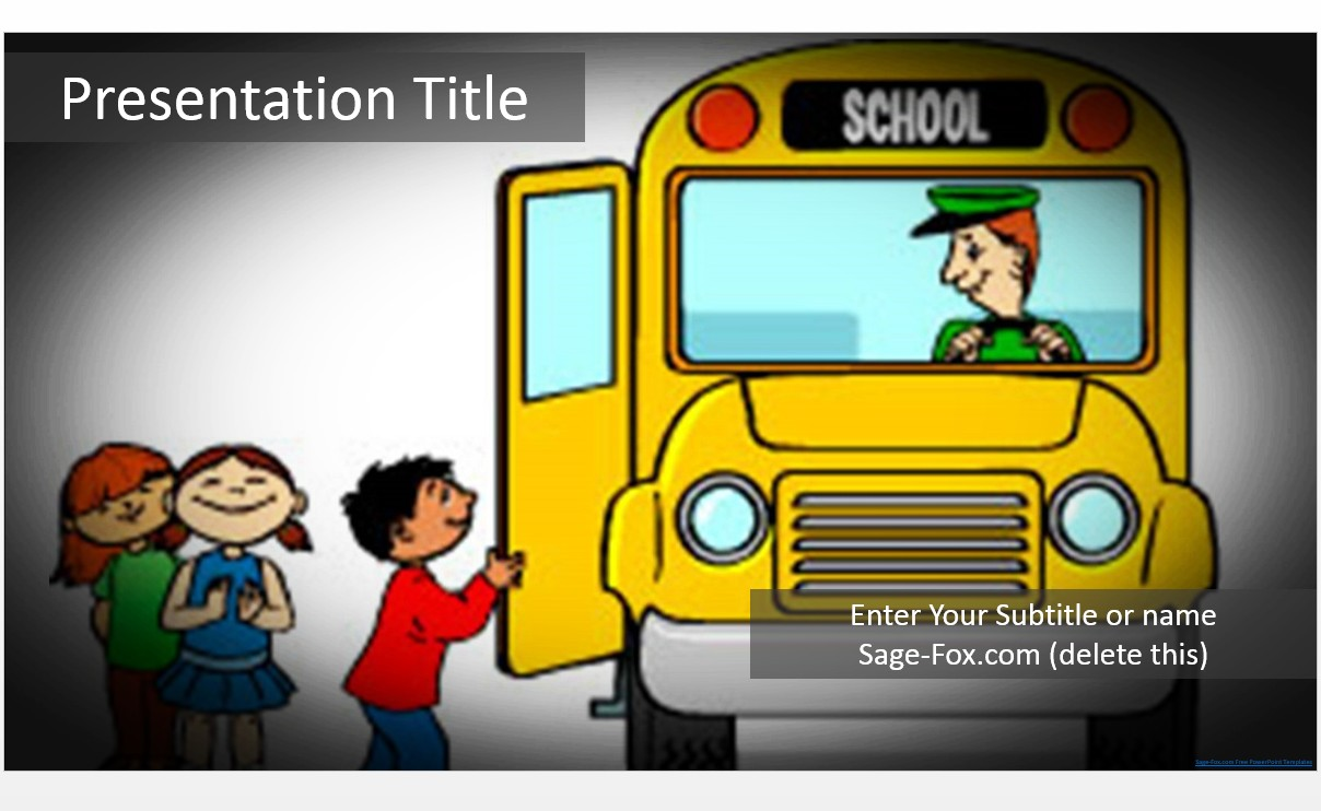 Free school bus cartoon powerpoint template 5769 sagefox please share this free powerpoint template toneelgroepblik Images